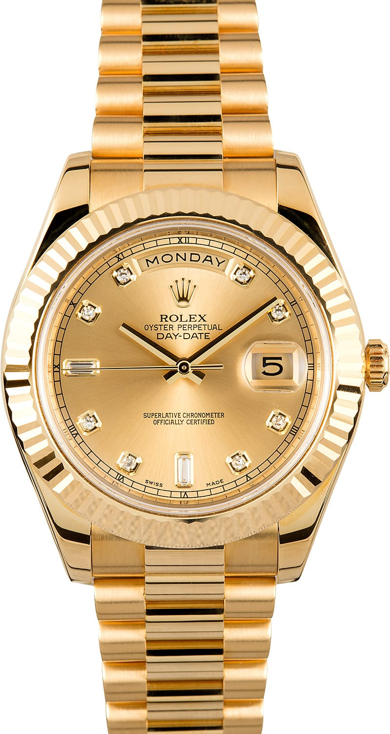 Rolex Day Date Ii 218238 Diamond Dial