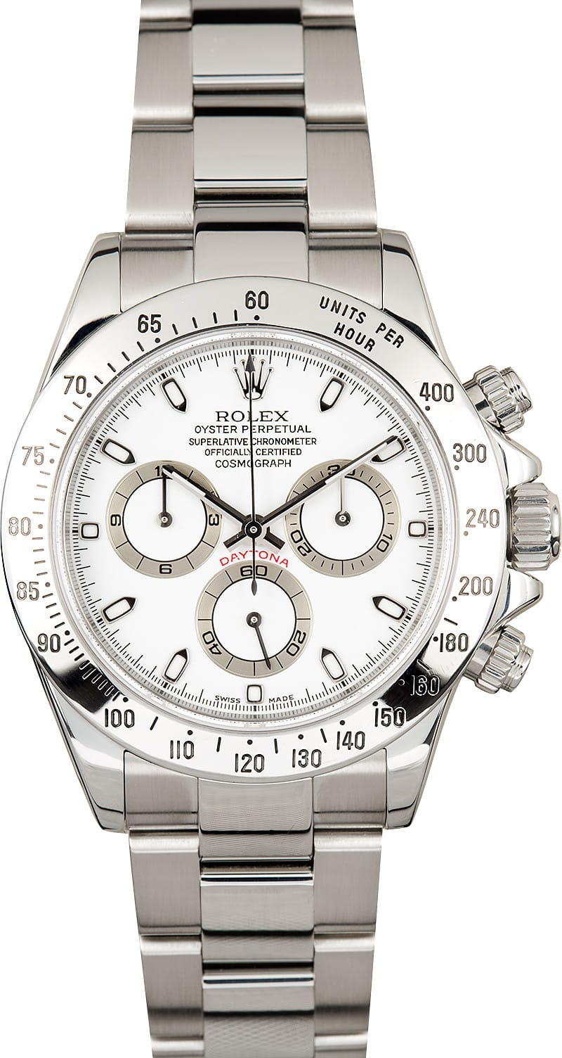 Bell And Ross Watch >> Rolex Daytona White Dial 116520 Stainless Steel
