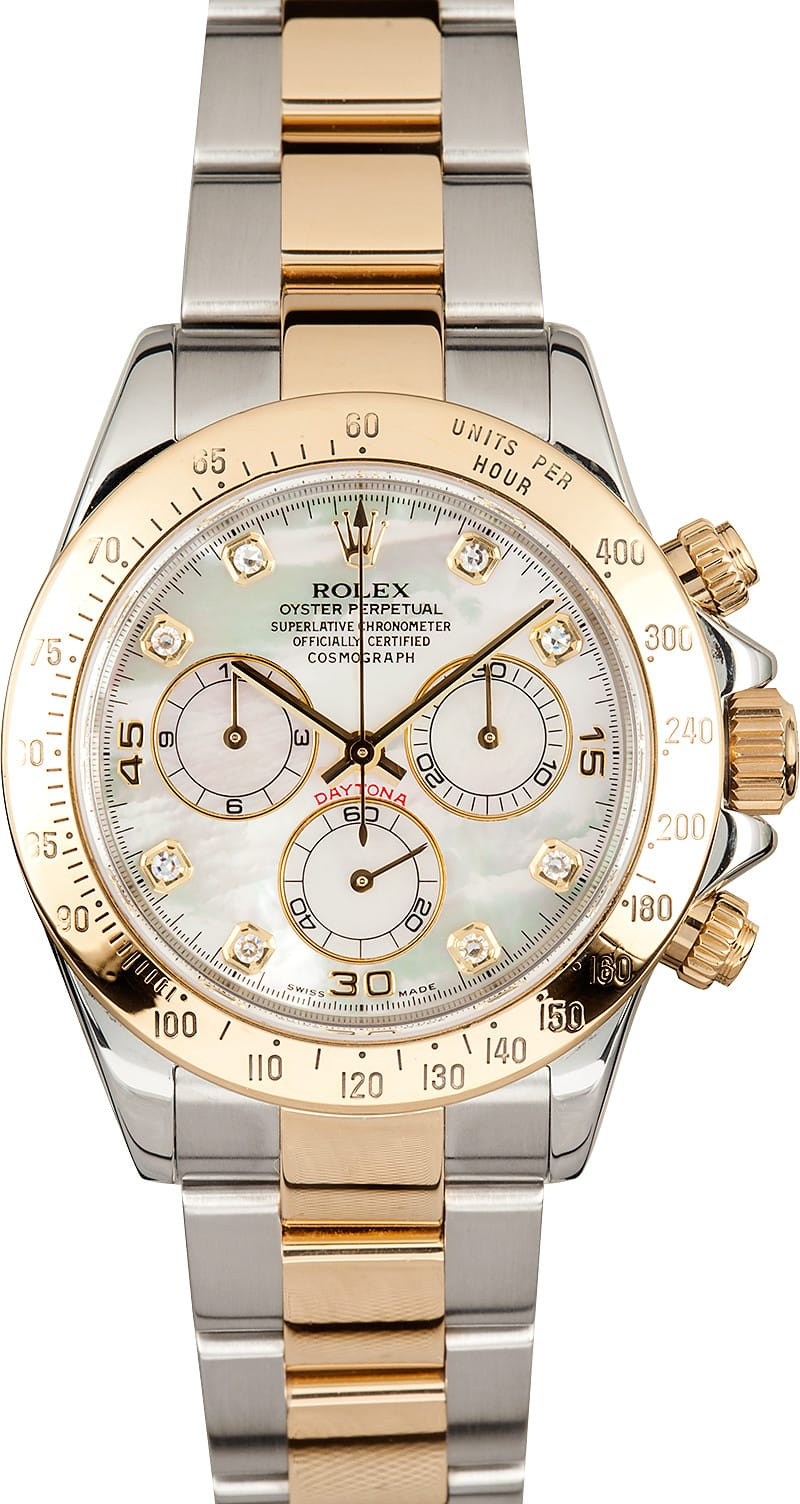 Mother Of Pearl Rolex Daytona 116523 Save At Bob S Watches