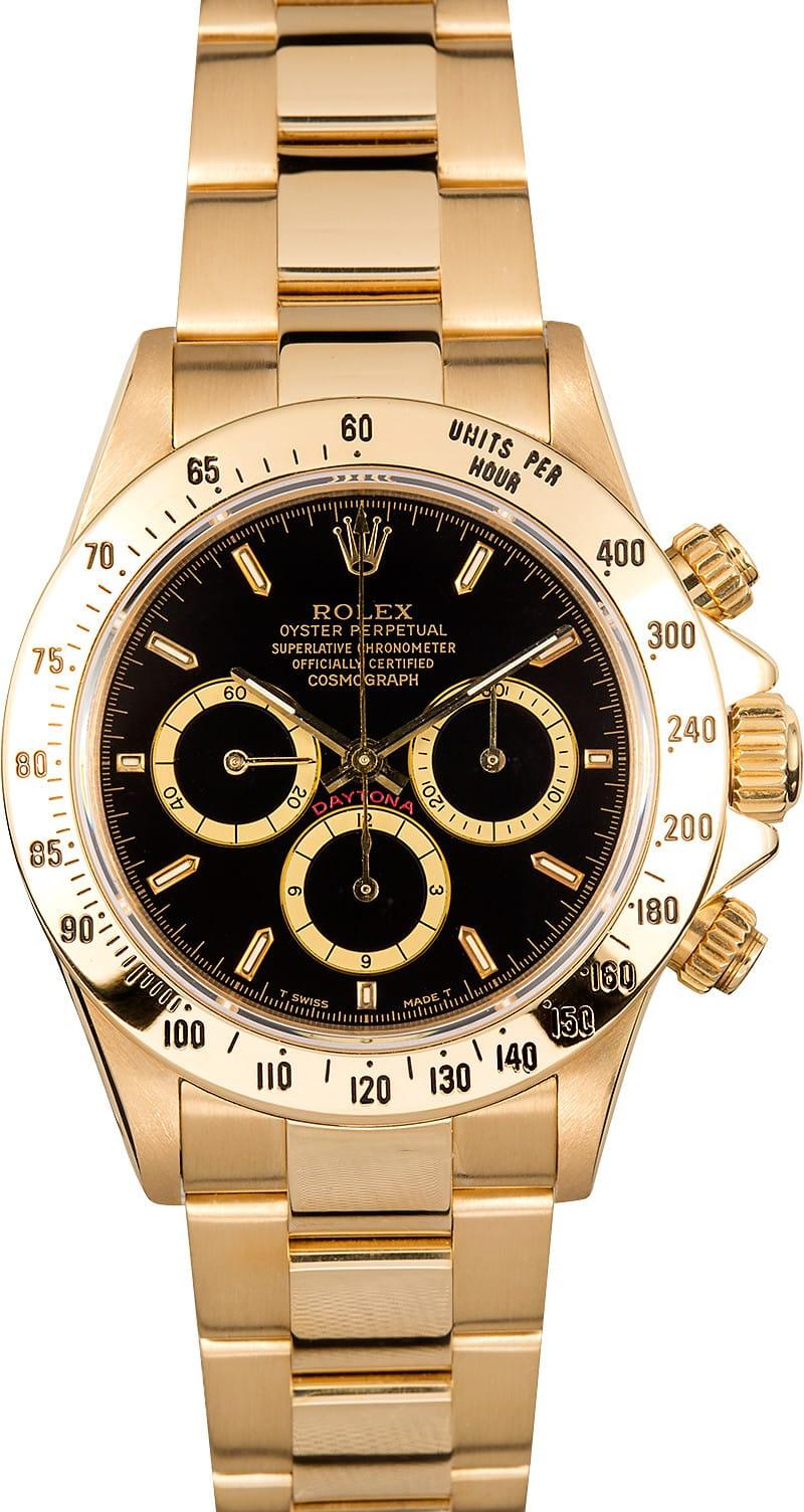 Used Rolex Daytona >> Rolex Daytona 18k Yellow Gold 16528