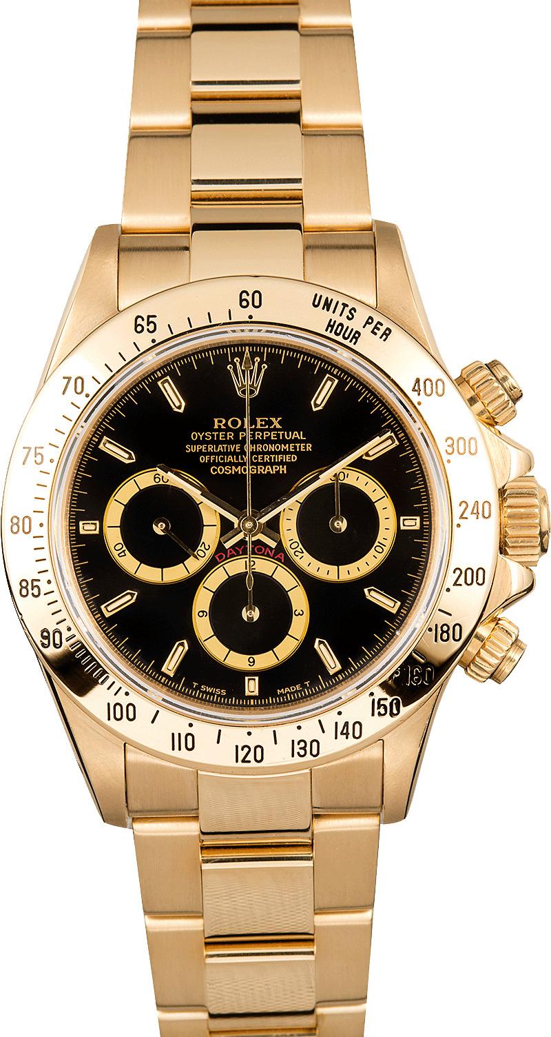 Daytona Rolex Watch >> Rolex Daytona 18k Gold 16528