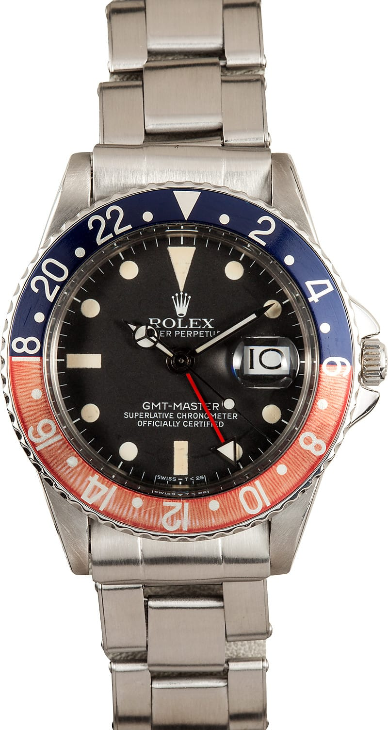 Rolex Gmt Master 1675 Pcg With Faded Pepsi Bezel 1963