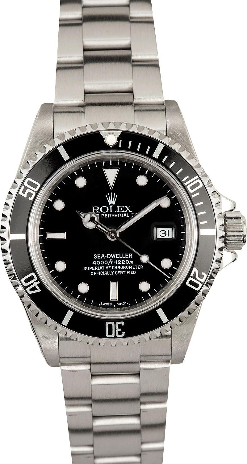 Used men 39 s rolex sea dweller 16600 dweller 16600 for Rolex sea wweller