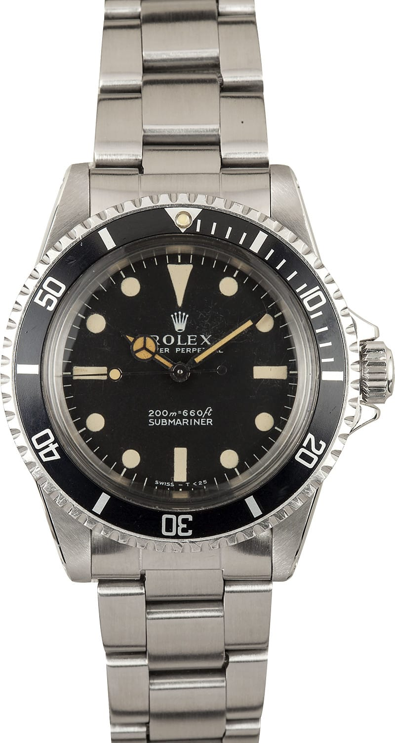 Rolex 5513 vintage submariner save at bob 39 s watches for Submarine watches