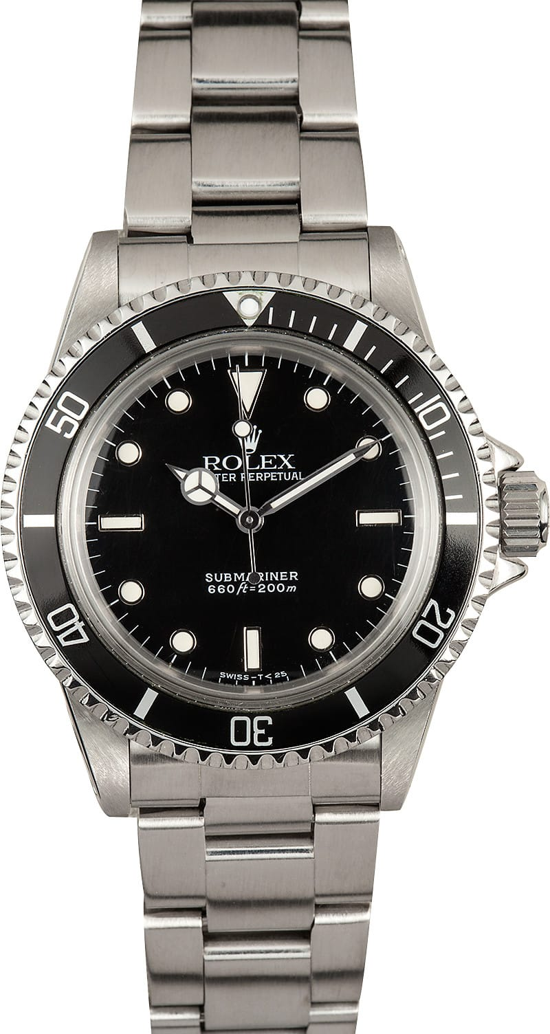 Certified Pre Owned >> Vintage Rolex Submariner Late Model 5513