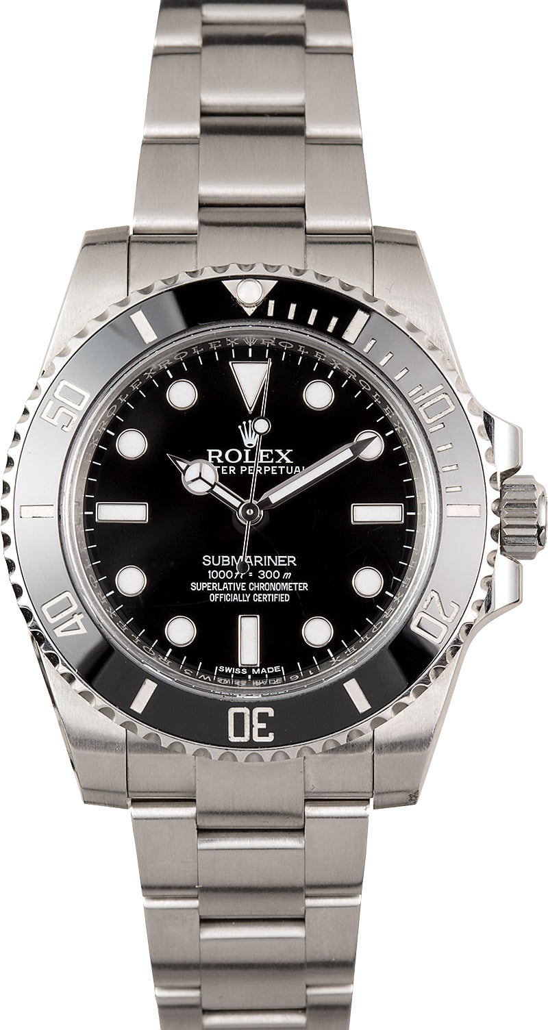 no date rolex submariner 114060 black ceramic. Black Bedroom Furniture Sets. Home Design Ideas