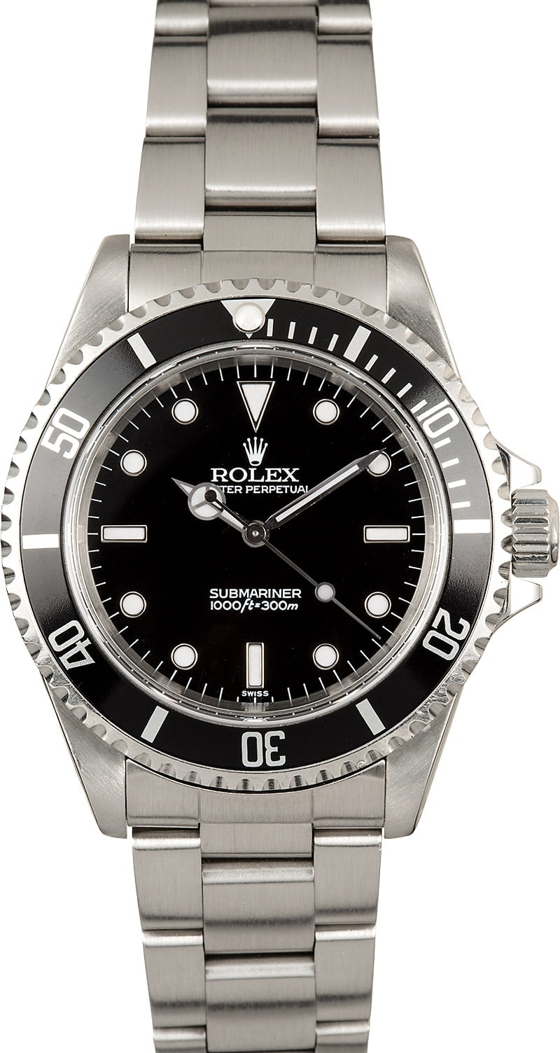pre owned mens used rolex submariner 14060 no date save