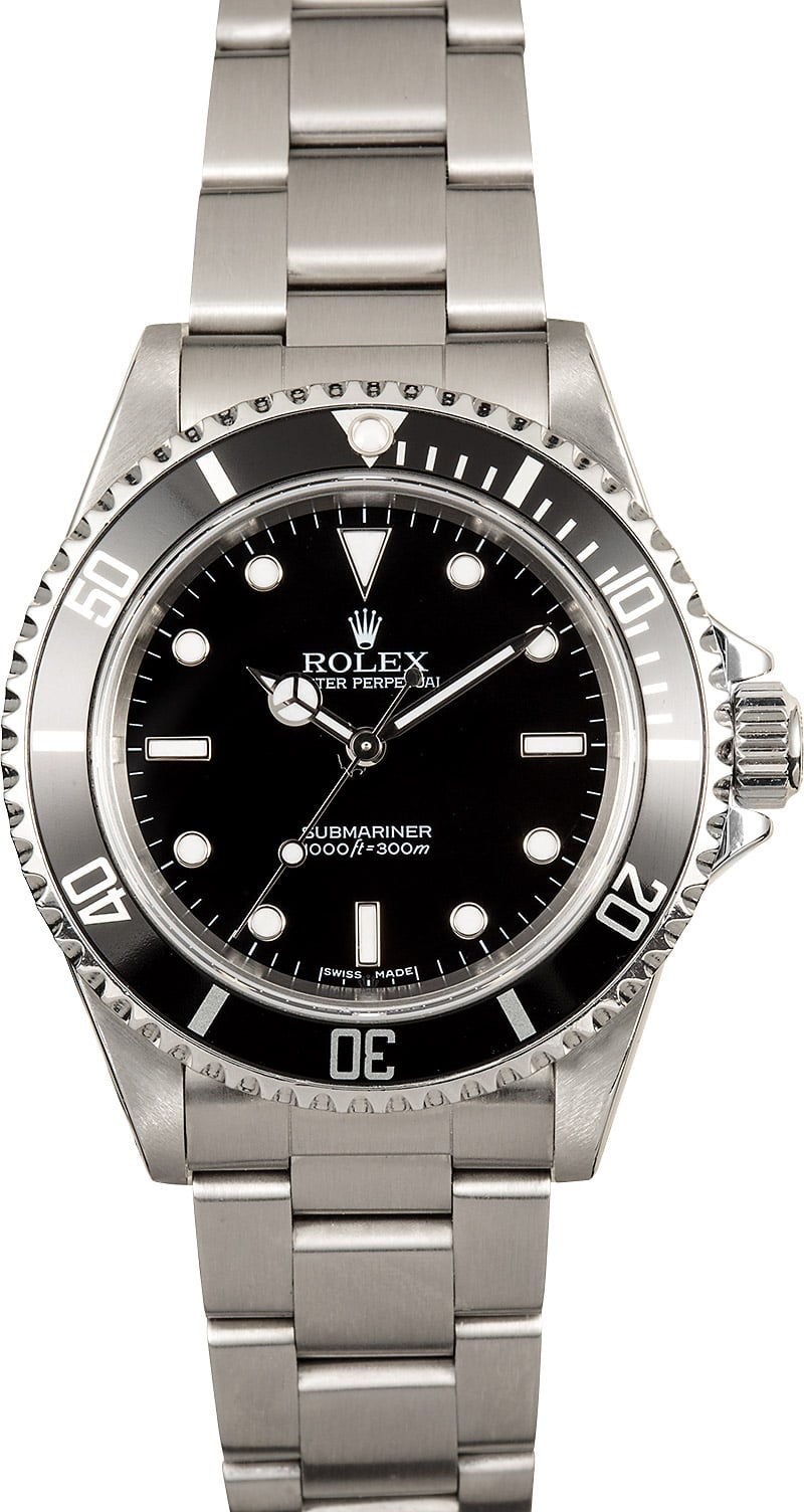 pre owned mens used rolex submariner 14060m no date. Black Bedroom Furniture Sets. Home Design Ideas