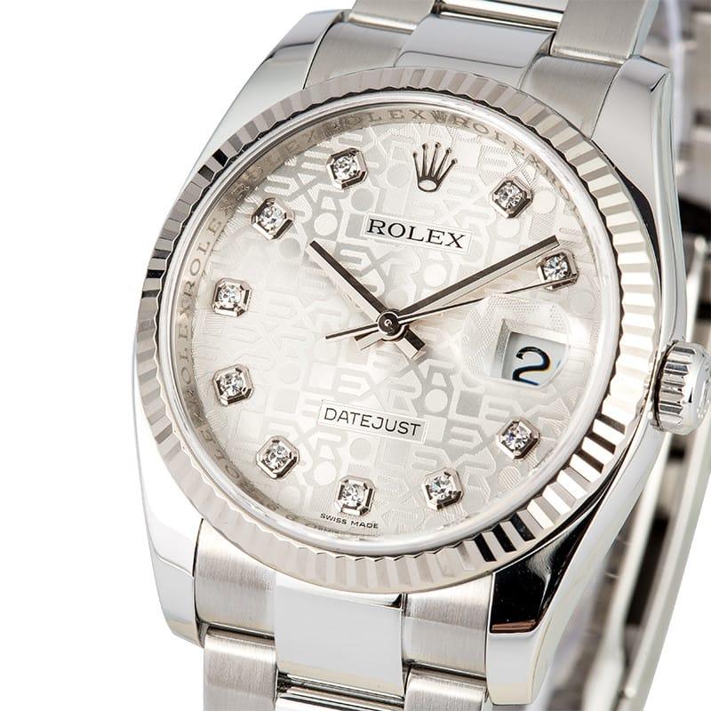 Rolex Datejust Diamond Jubilee Dial 116234