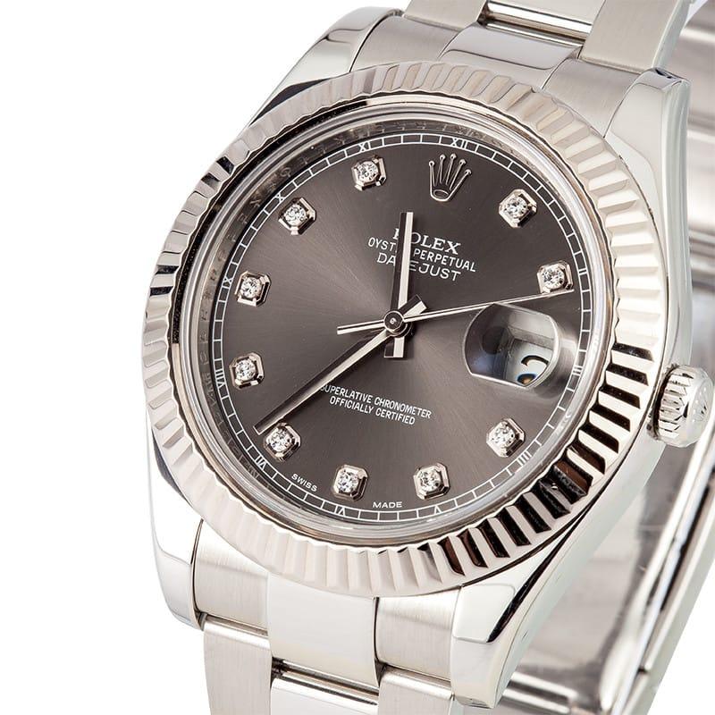 41MM Rolex Datejust II Diamond Dial 116334 - Save At Bob's ...