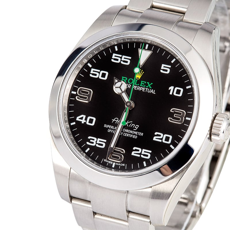 Men 39 s rolex air king 40mm 116900 for Rolex air king