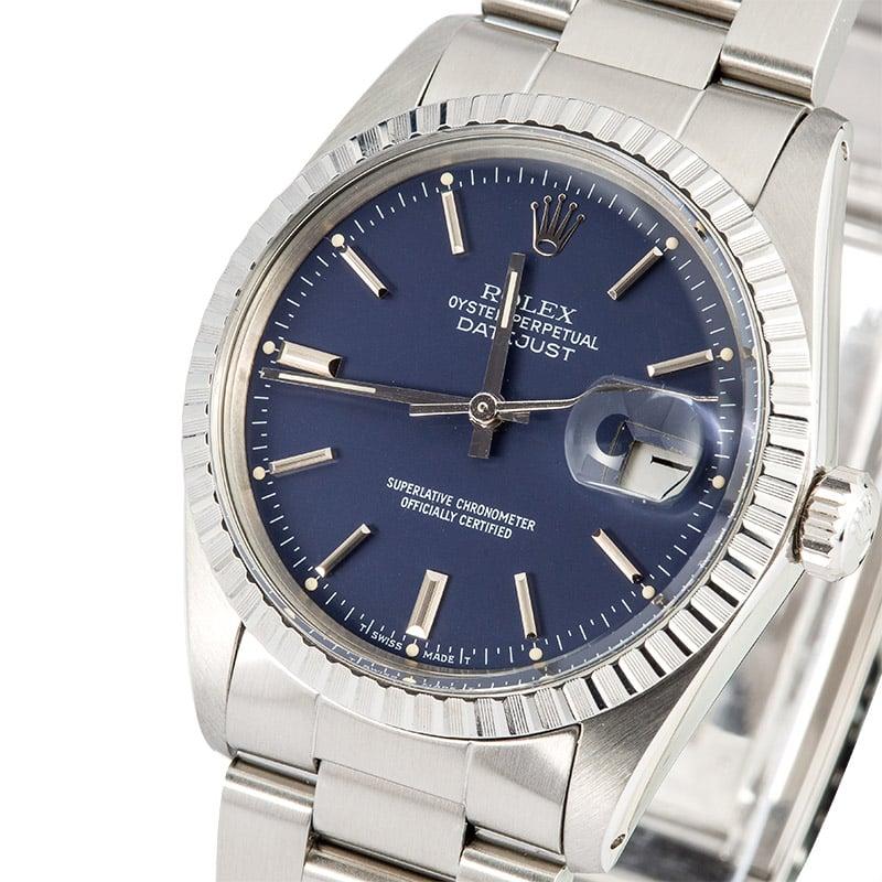 5fc1c31eefb9 Rolex Datejust 16030 Blue Dial 100% Authentic
