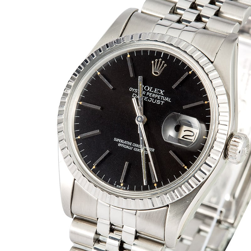 d94c48db42df Rolex Datejust Steel 16030 Black