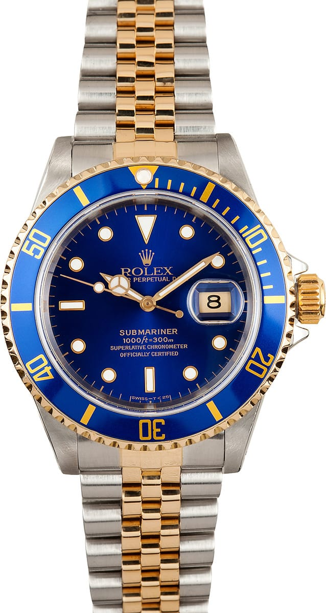 two tone submariner 16613 jubilee 100 rolex