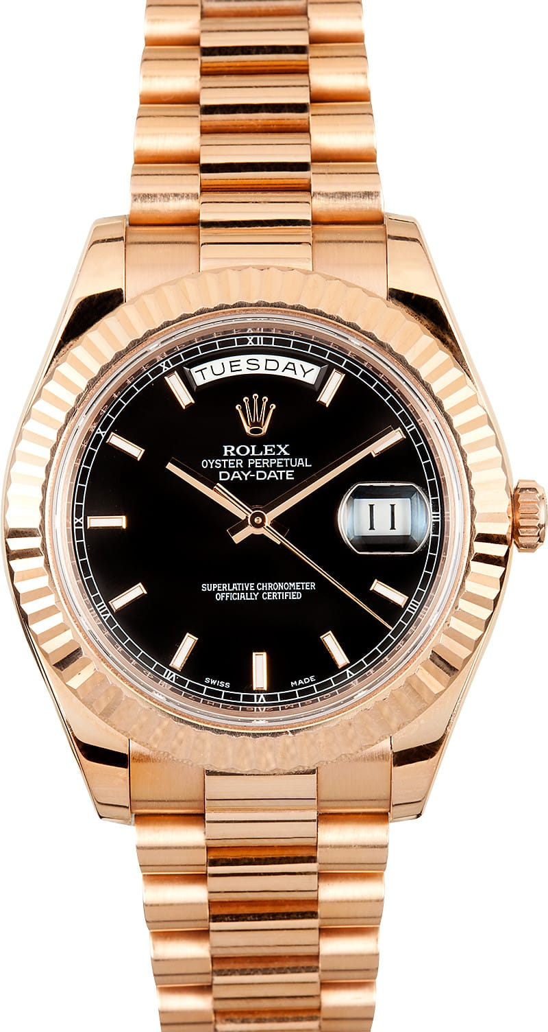 aaaaa01128cf Rolex President Day Date II Rose Gold Dial - Save  1