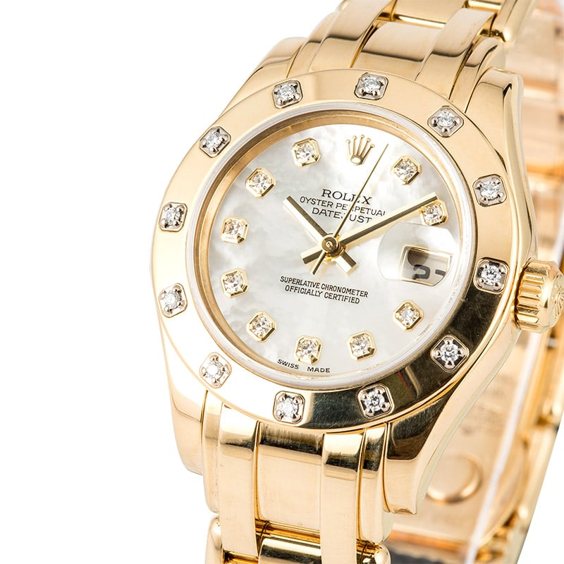 Ladies rolex pearlmaster 80318 diamond for Rolex pearlmaster