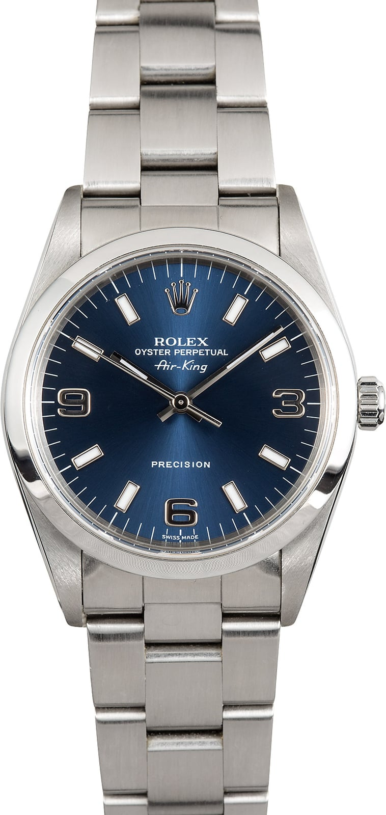 Rolex air king 14000 blue dial oyster for Rolex air king