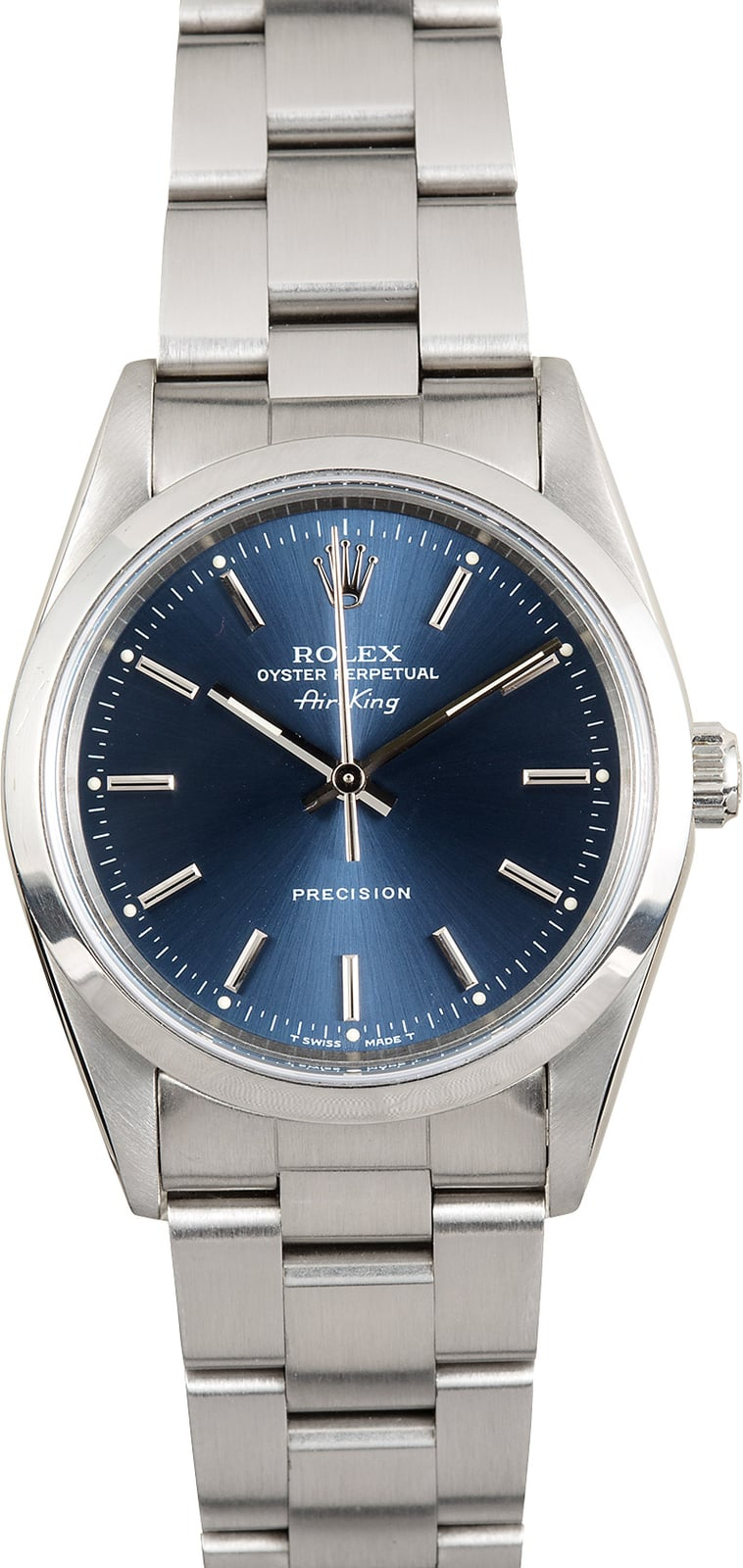 Rolex air king 14000 blue index for Rolex air king