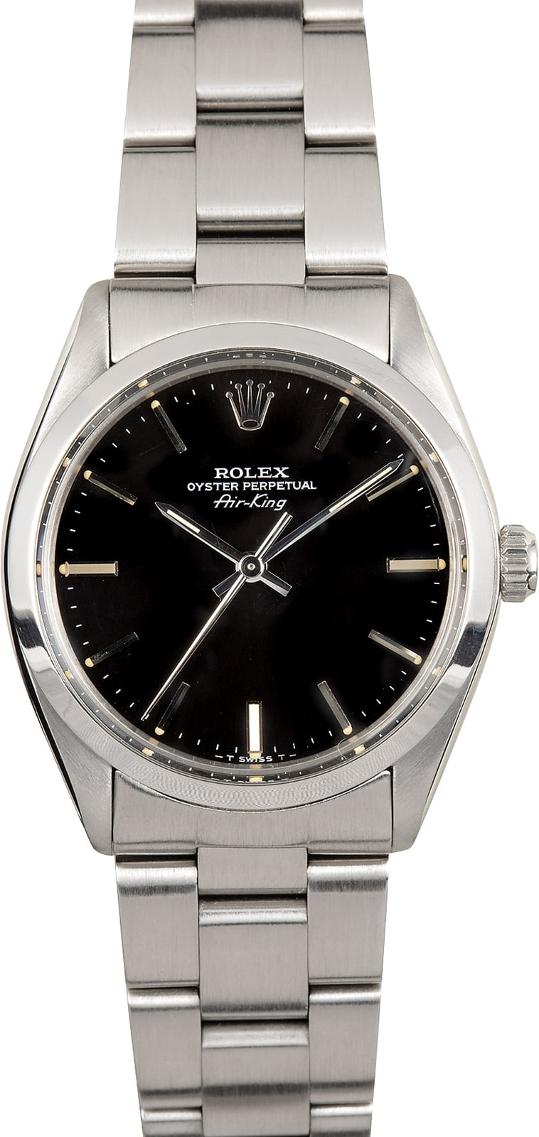 Rolex air king oyster 5500 black for Rolex air king