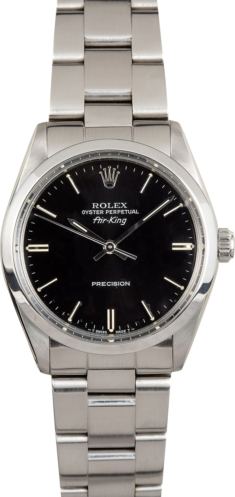 Rolex air king oyster 5500 black dial for Rolex air king
