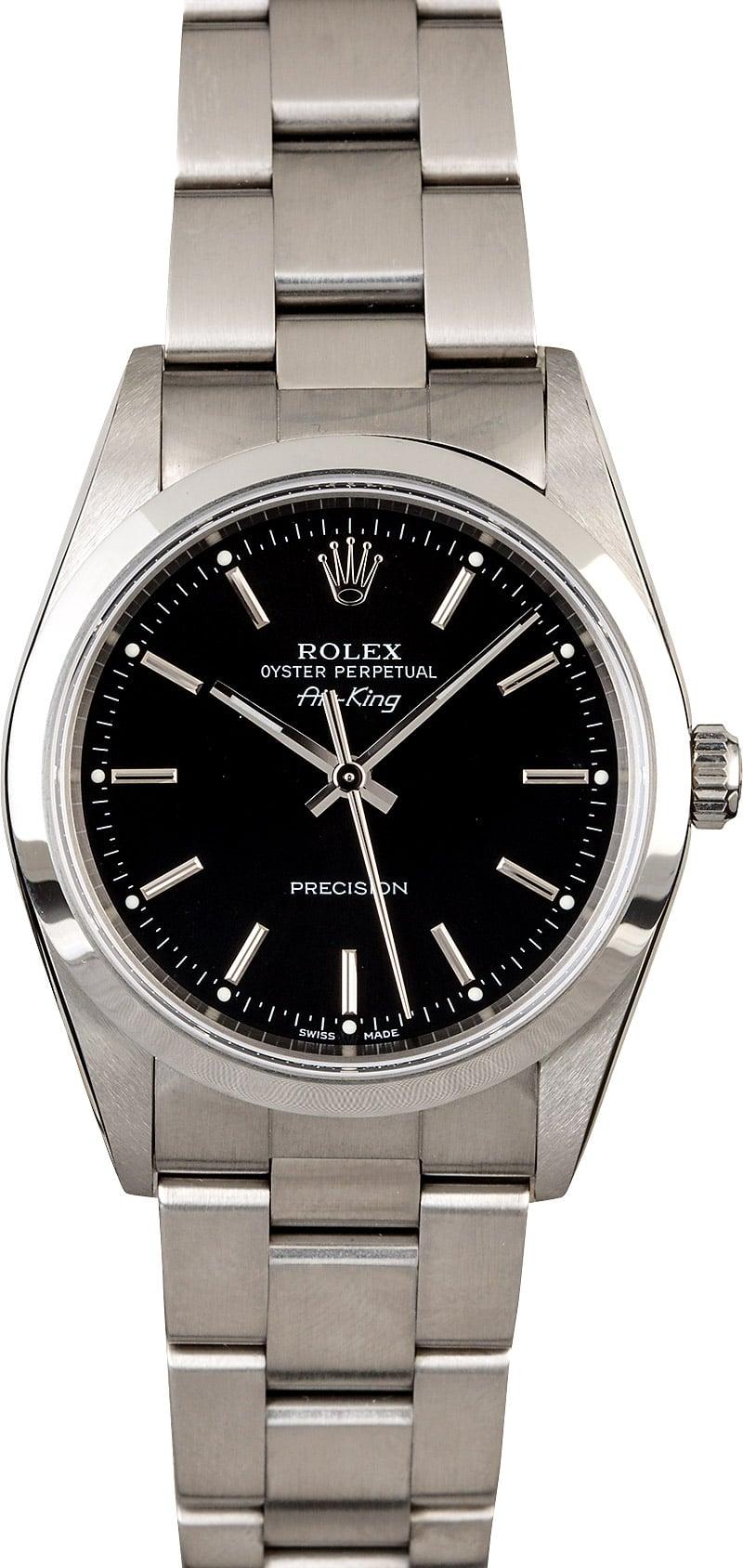 Air,King Rolex 14000 Black Dial