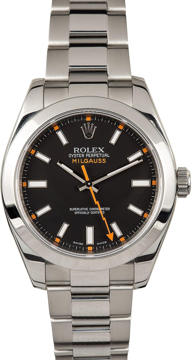 Rolex black milgauss 116400 for Rolex milgauss