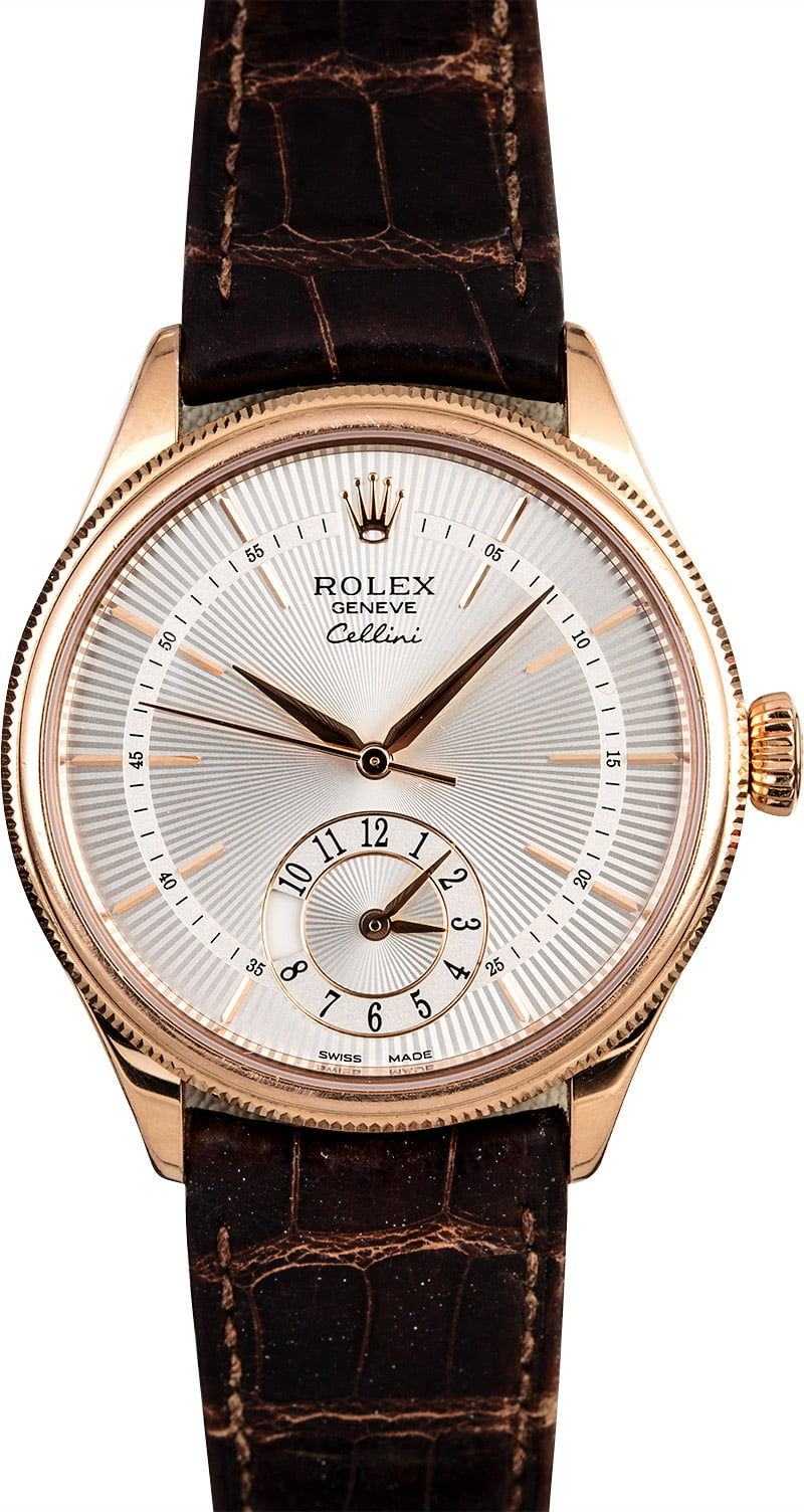 Rolex cellini 50525 silver guilloche dial for Rolex cellini