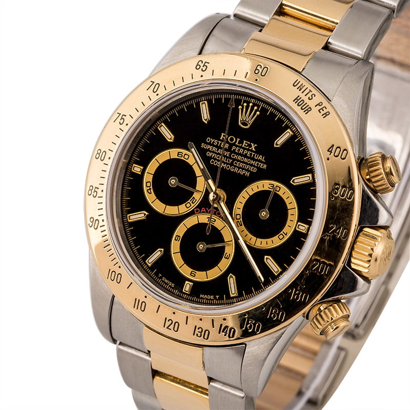 Pre-Owned Rolex Cosmograph Daytona 16523 Black Dial