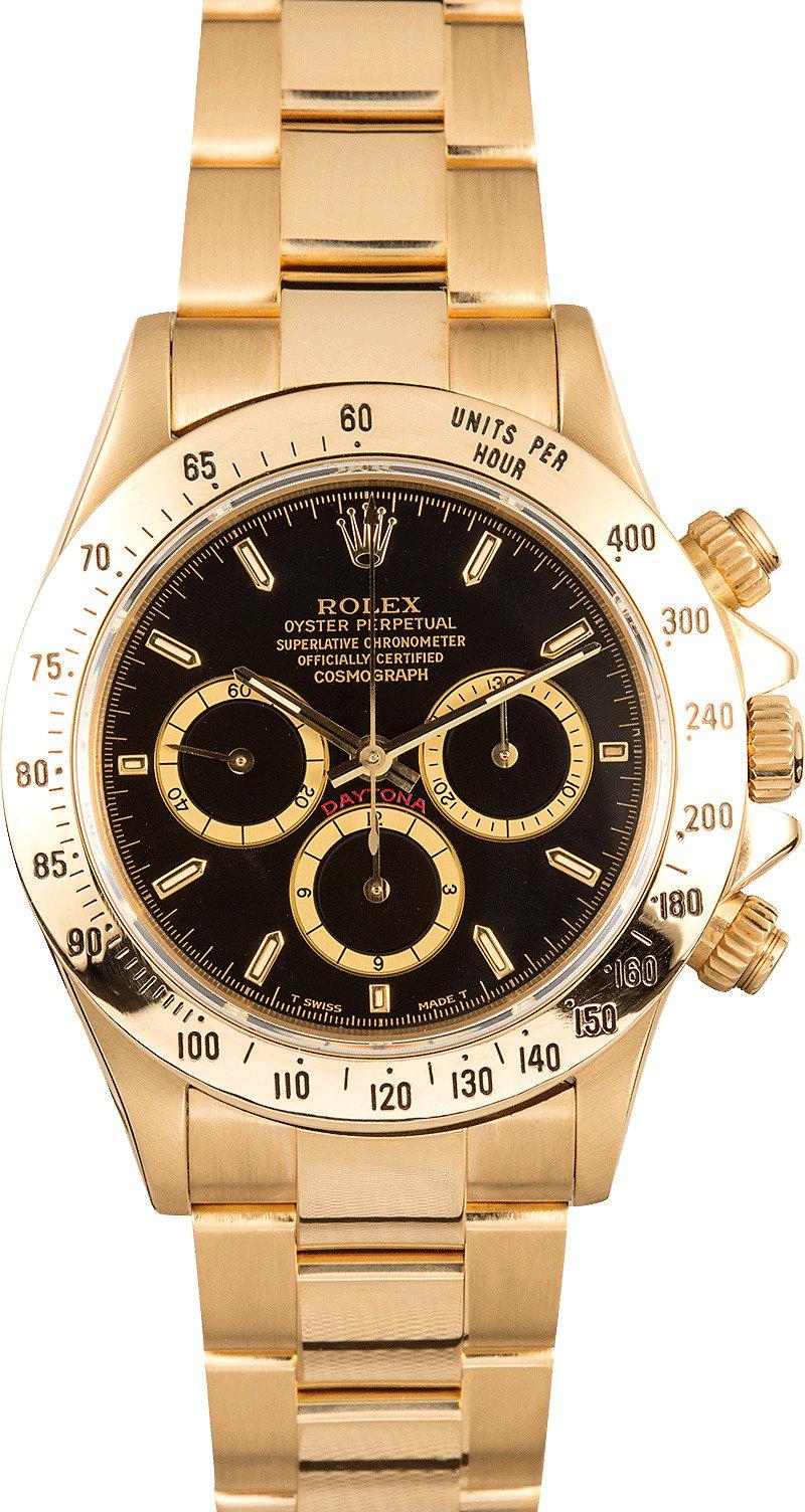 Rolex cosmograph daytona 18k yellow gold 16528 for Rolex cosmograph daytona