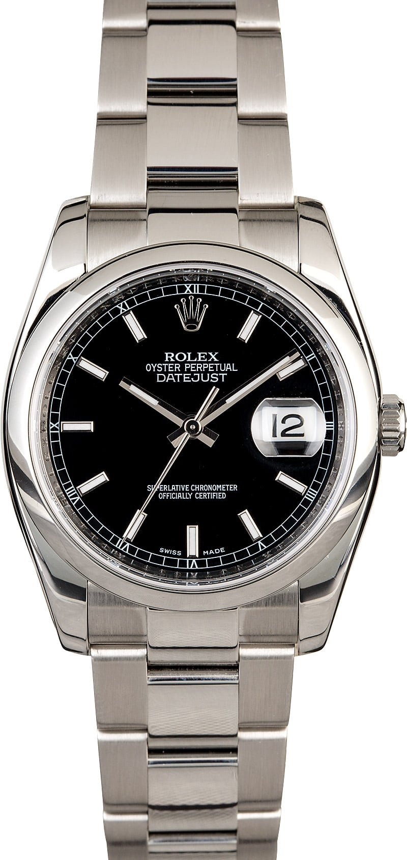 Rolex datejust 116200 black luminescent dial for Luminescence watches