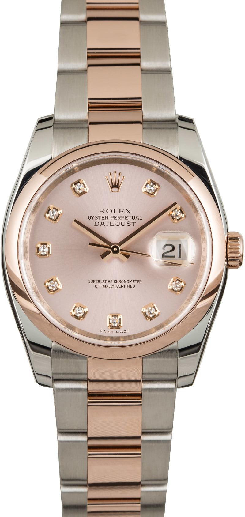 Rolex Datejust 116201 Pink Diamond Dial