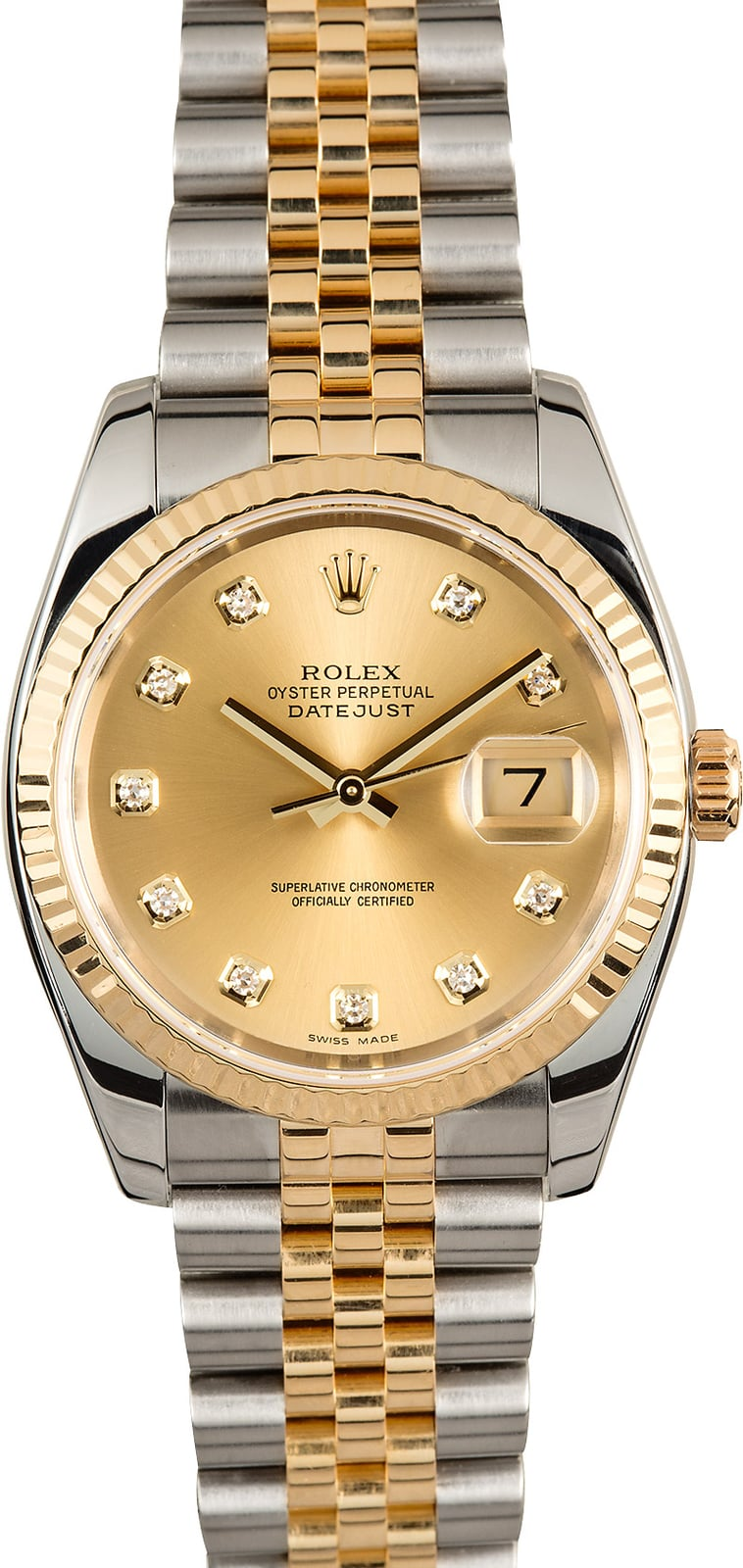 Rolex Datejust 116233 Diamond Dial 100% Authentic