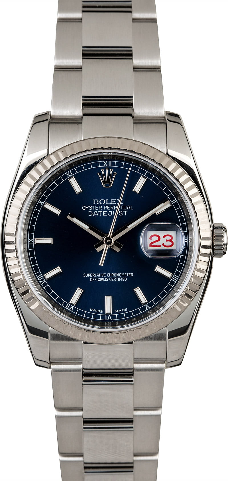 071f6e30bb4 Rolex Datejust 116234 Blue Dial with Steel Oyster