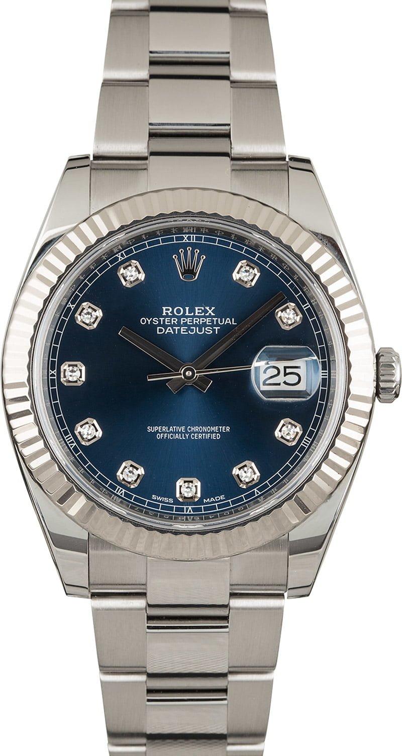 ace16caa858 Buy Used Rolex Datejust 41 126334BLDO   Bob's Watches - Sku: 122842