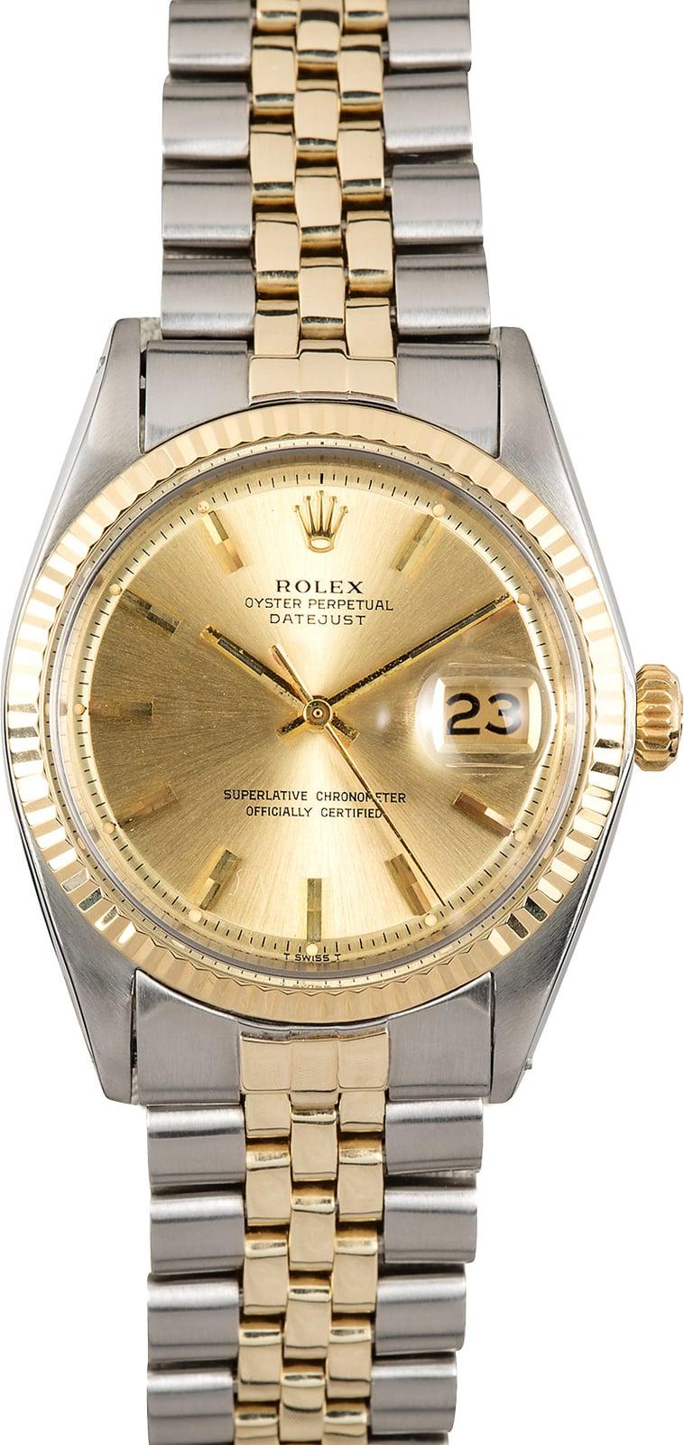 rolex datejust 1601 vintage watch