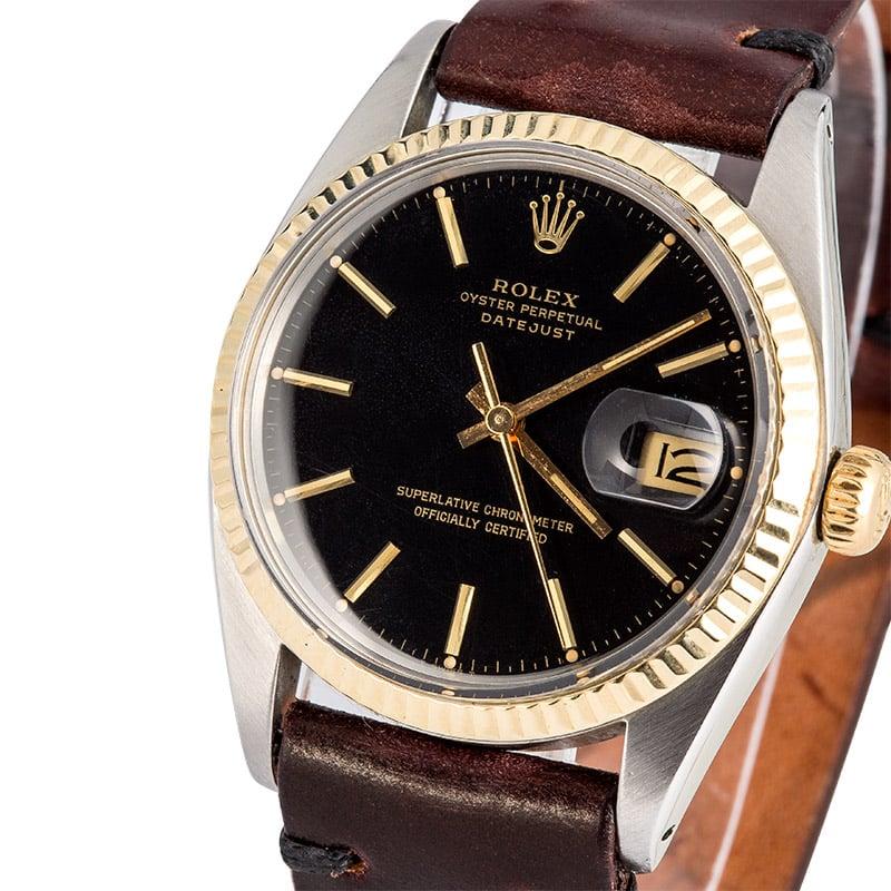Rolex Datejust Black 16013 Leather Strap