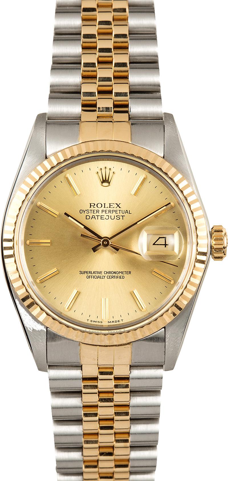 Used Rolex Daytona >> Rolex Datejust 16013 Men's Watch