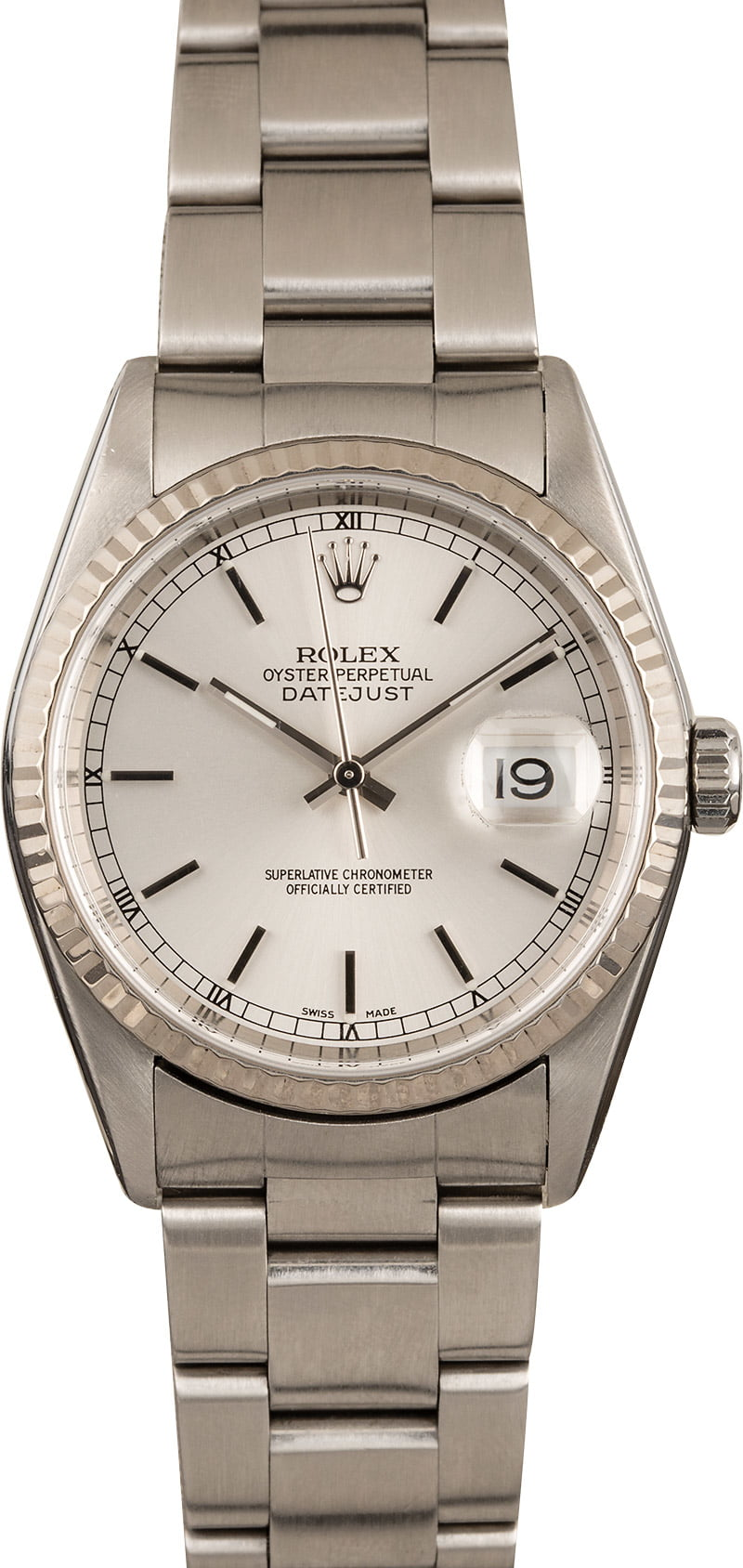 8ead756d0479a Pre-Owned Men's Rolex Datejust Stainless Steel Watch 16200
