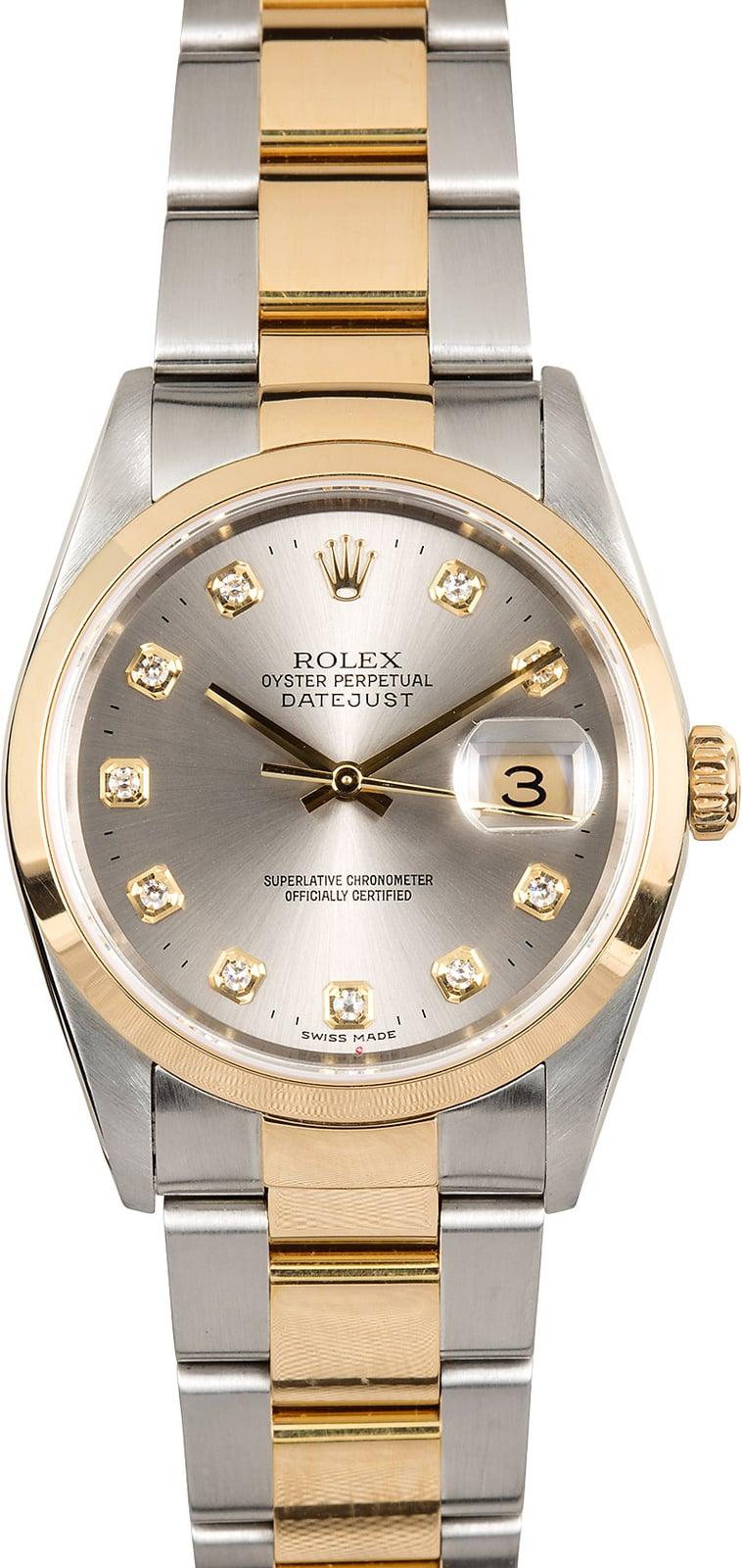 Rolex Datejust 16203 Diamond Dial