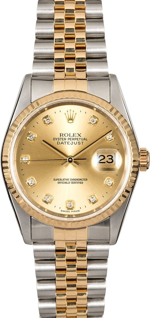 Men\u0027s Rolex DateJust 16233 Diamond Dial