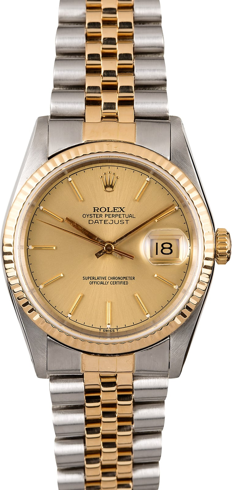 watch dial rolex w datejust watches two ladies tone oyster upon products a once papers diamond roman champagne