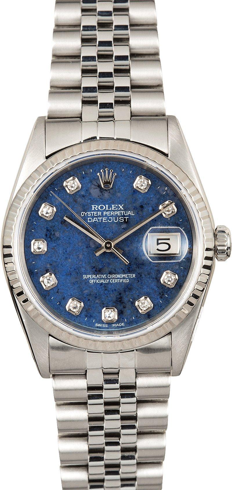 Rolex Datejust 16234 Diamond Sodalite Dial