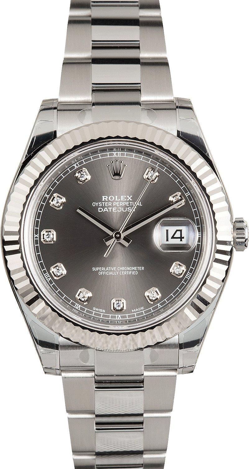 Rolex Datejust II 116334 Rhodium Diamond Dial
