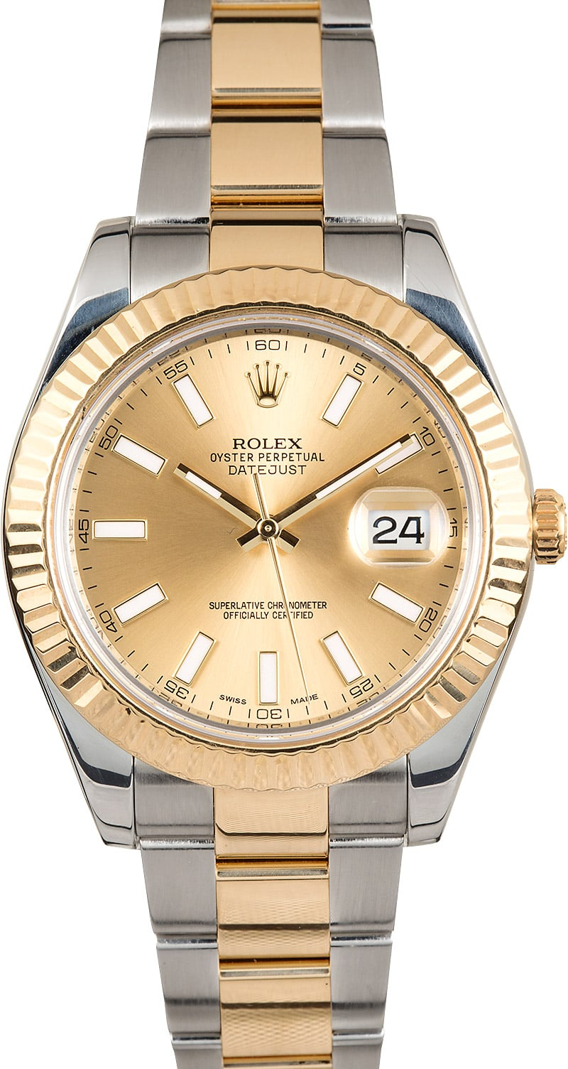 rolex datejust ii 41mm two tone 116333 champage. Black Bedroom Furniture Sets. Home Design Ideas