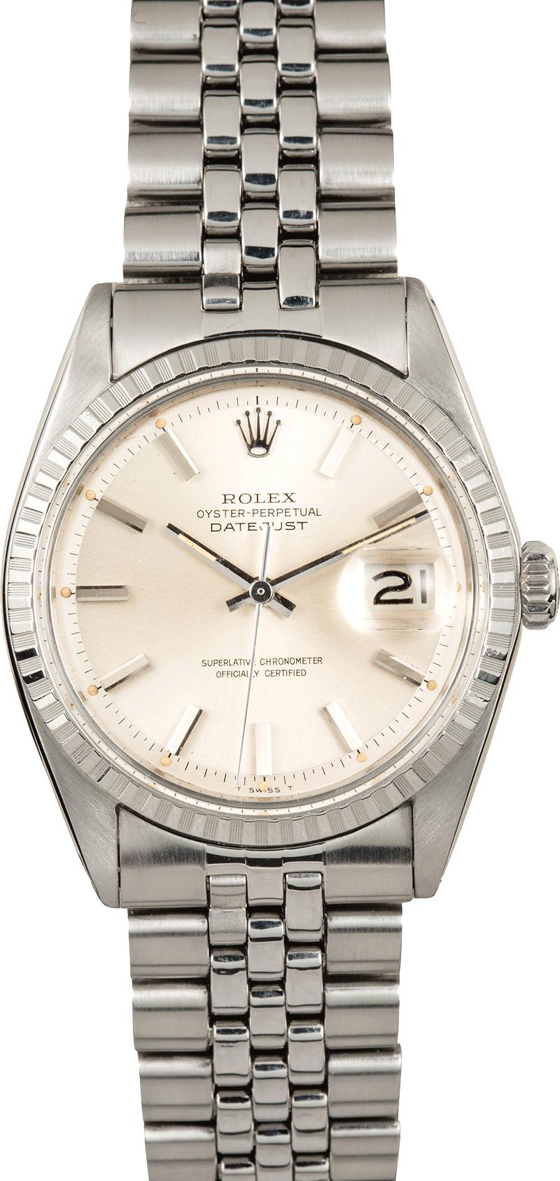 Rolex Datejust Stainless Steel Vintage 1603 Tt