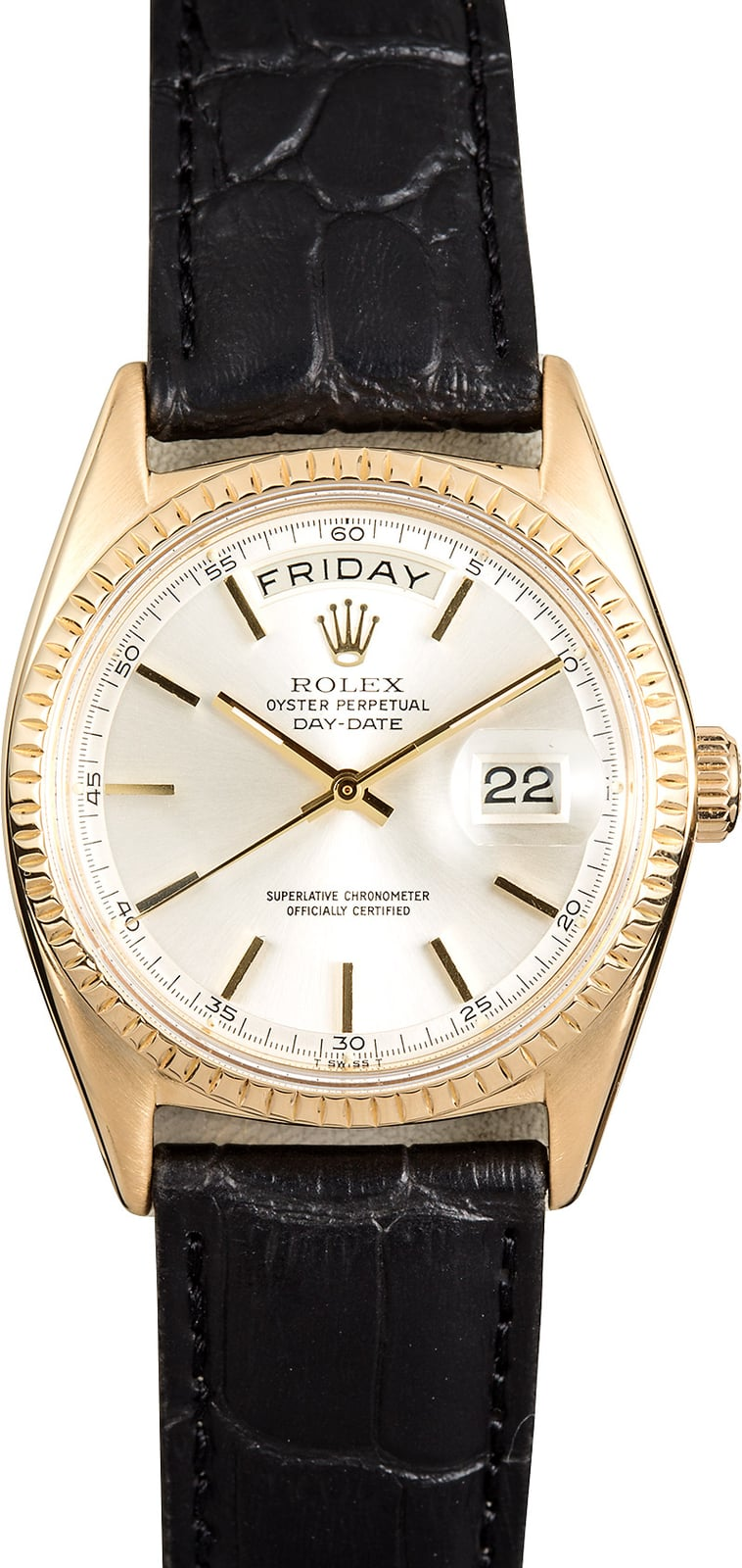 """Certified Pre Owned >> Rolex Day-Date President 1803 """"Pie-Pan"""""""