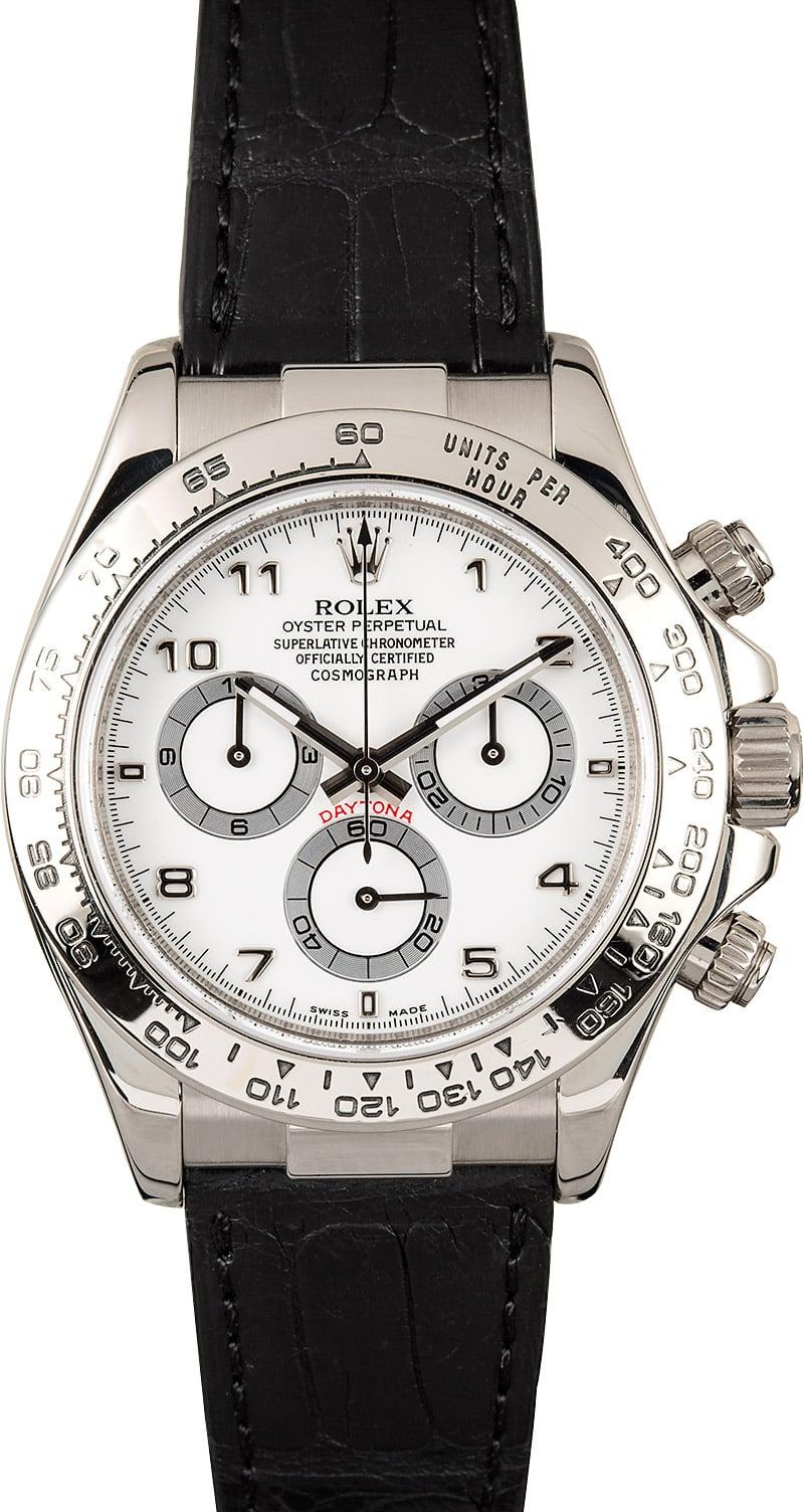 Used Mens Rolex >> Rolex Daytona 116519 White Gold