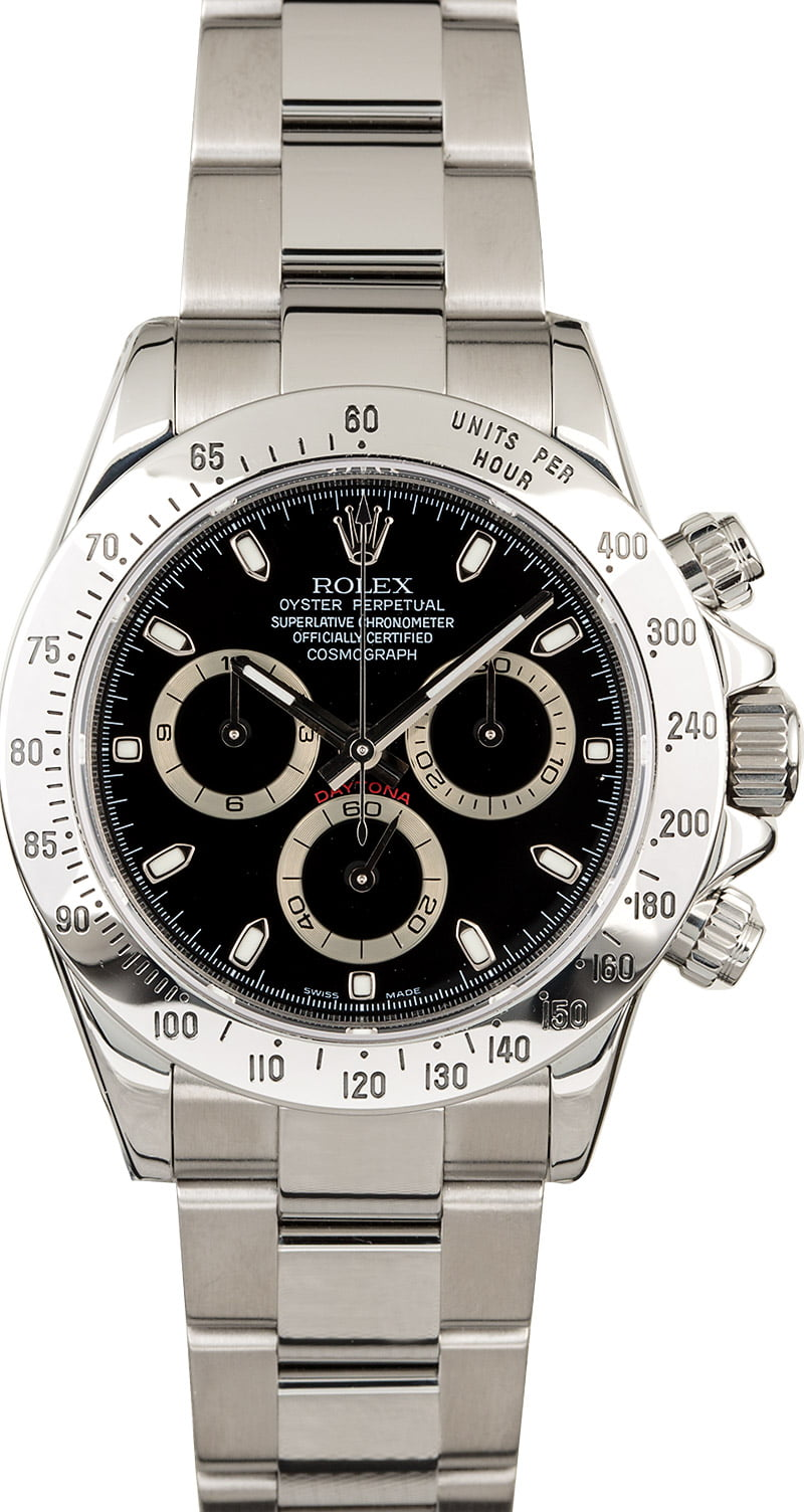 new styles a61d1 d56f2 Used Rolex Daytona 116520 Serial Engraved Rehaut