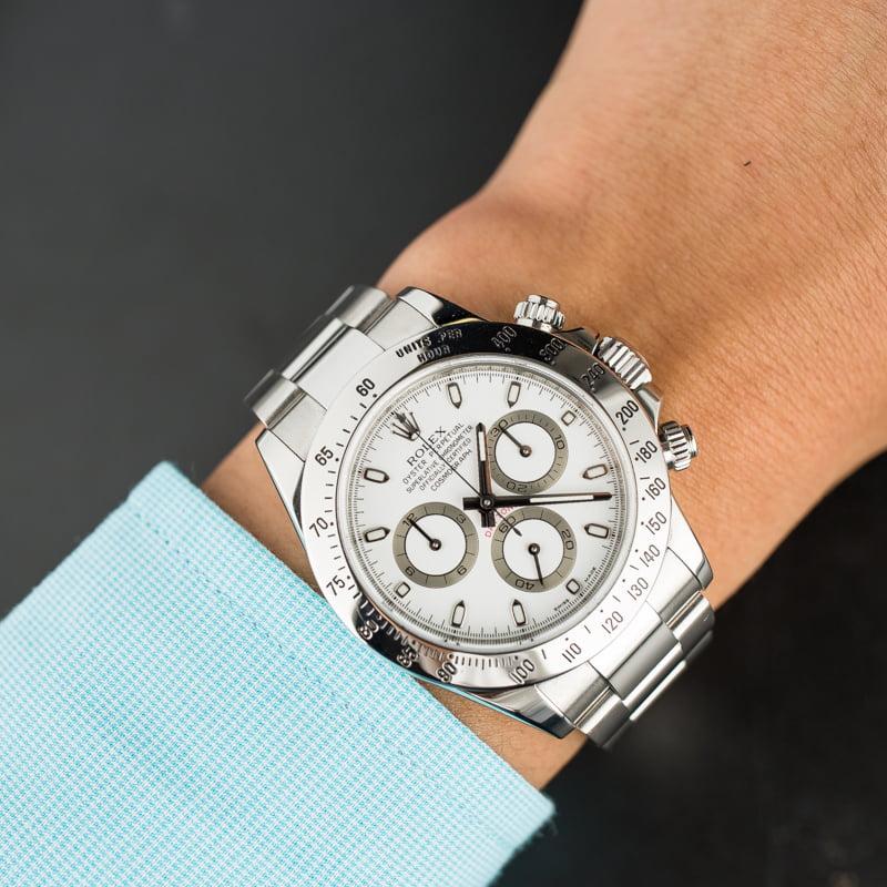 PreOwned Rolex Daytona 116520 White Dial