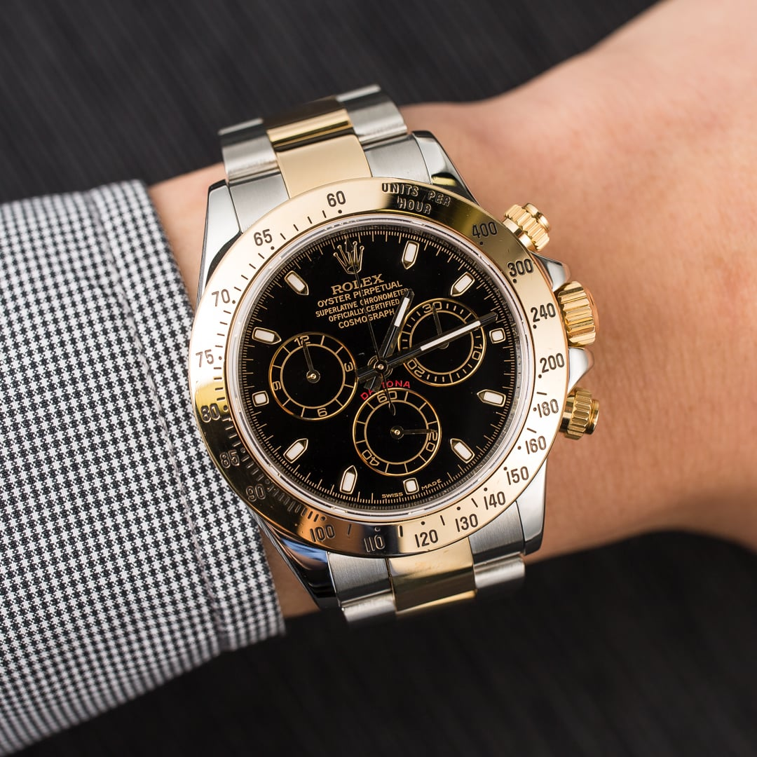 Rolex daytona 116523 black dial cosmograph for Rolex cosmograph daytona